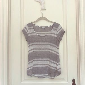Splendid grey and white striped T-shirt
